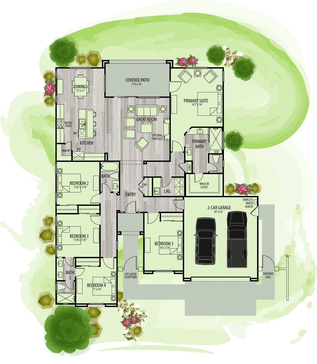 footprint of floor plan for Residence 3Y.